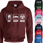 EAT, SLEEP, DRIVE HOODIE ADULT/KIDS - PERSONALISED - TOP GIFT CAR TAXI BUS