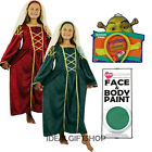 GIRLS DRESSING UP BOOK WEEK COSTUME FIONA TUDOR SHREK EARS COMPLETE OUTFIT