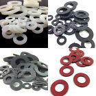 RUBBER, NYLON & RED FIBRE FLAT SEALING WASHERS - M3 M4 M5 M6 M8 M10 M12 M16 M20