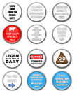 Funny Novelty Fridge Magnets - Varied Designs - Great Gift Idea - 58mm Magnets