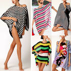 Womens Boho Beach Batwing Sleeve Chiffon Dress Sarong Kaftan Bikini Cover-up Top