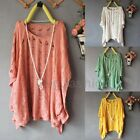 Womens Hollow Ripped Hole Loose Sweater Jumper Cardigan Batwing Knitwear Top
