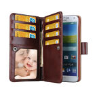Hot! Luxury Retro Vintage Senior PU leather Multifunction Wallet Card Case Cover