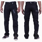 MENS NEW CHEAP JEANS EZ224 BLACK COATED STRAIGHT FIT SIZES 28 TO 42 RRP £34.99