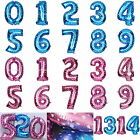 """Foil Balloon 40"""" Numbers Pink Blue 0-9 Birthday Baby Shower Party Wedding Decor"""