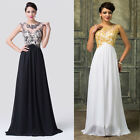 Lace&&Chiffon Sexy Formal Long Applique Cocktail Evening Bridesmaid Party Dress