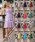 New Short Chiffon Formal Lace Evening Ball Gown Party Prom Bridesmaid Dress 6-18