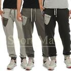 Mens Soulstar Cargo Pocket Fleece Jogging Bottoms Tracksuit Jog Pants Size