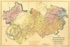 1899 Dorchester Roxbury Brighton Boston Ward Wall Map Largest Sizes