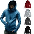 Mens Hoody Winter Plain cardigan Sweater Ladies winter Jumper Unisex Hoodie Size