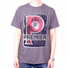 PREMIER DRUMS T SHIRT - CLASSIC RETRO LOGO 100% OFFICIAL DRUMMING T SHIRT FAB!