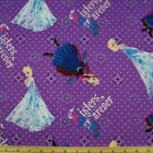 Disney Movie Frozen Sisters Forever Spots 100% Cotton Fabric