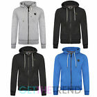 Mens Zip Thru Smith Jones Hoody Top Plain Sweatshirt Hooded Zipper Jacket Coat