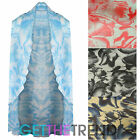 Womens Floral Open Front Kimono Ladies Loose Overcoat Sleeveless Cape Shawl