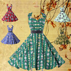 *50's ROCKABILLY* Vintage Retro Swing Pinup Housewife Party Short A-Line Dresses