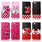 cute 3D Bow Stand Wallet Magnetic Flip Leather Case For iPhone 5 5S 5C 6 /6 Plus