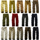Match New Men's Casual Loose Fit Military Cotton Work Cargo Pants  Size 30-44