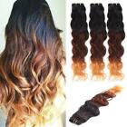 Brazilian Ombre Remy Natrual Wave Virgin 3 tone Human Hair Extensions 50g Hot