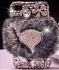 S*ACT apple iphone case w fur fox w ddust plug and lcd transparent