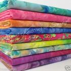 per 1/2 metre 100 % cotton fabric hand printed batiks 142cm wide pink blue green