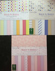 12 SHEET 6 x 6 TASTER BACK TO BASICS CARD MAKING SCRAPBOOKING PAPER CLEARANCE