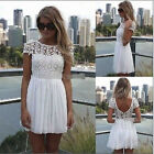 2015 HotWomen Summer Bandage BodyCon Lace Evening Sexy Party Cocktail MINI Dress