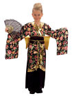 Geisha Kimono Girls Fancy Dress Japanese National Dress Kids Costume Outfit New