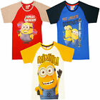 Childrens Official Disney Minions Cotton T Shirt Kids Despicable Me Boy Girl Top