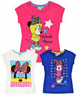 Girls Disney Minnie Mouse T Shirt Kids Short Sleeve Top New Age 3 4 6 8 Years