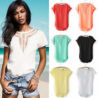 Women Casual Chiffon Blouse Short Sleeve Shirt T-shirt Summer Blouse Tops U Pick