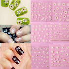 New 3D White Nail Art Tips Stickers Transfers Lace Flower Butterfly DIY Decals