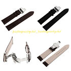 Men Women HQ Leather Watch Strap Band Butterfly Clasp Buckle Pin 18/20/22/24 mm