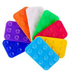 Anti-slip Silicone Suction Cup Mat Phone Holder Rectangle Dual Side Sucker