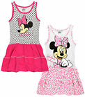 Girls Official Disney Minnie Mouse Dress Kids Summer Sun Dresses New Age 3-8 yrs