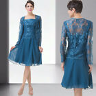 Mother Of bride Party Ball Evening Gown Short Wedding Prom Dress 8 10 12 14 16 +