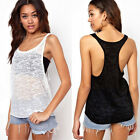 Loose Women Crew Neck Shirt Sleeveless Blouse Vest Tank Tops T Shirt Chic 4Sizes