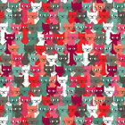 A CROWD OF CATS - CATS by MAKOWER 100% COTTON FABRIC PATCHWORK