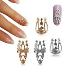 Beauty 3D DIY Alloy Hollow Out Nail Art Stickers Slices Decoration Gold Silver
