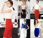 OL Lady High Waist Knee Length Straight Stretch Business Casual Pencil Skirt