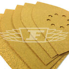 5 PACK MULTI SANDER SHEETS YELLOW ALUMINIUM OXIDE ASSORTED P60 P80 P120 741414