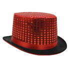 12X RED SEQUIN TOP HAT CABARET CIRCUS RINGMASTER FANCY DRESS COSTUME ACCESSORY
