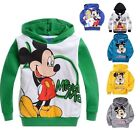 Kids Mickey Mouse Baby Boys Girls Long Sleeve Hoodies Coat Clothing 2-8Years