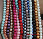 Wholesale Lots 23 Colors Loose Round Glass Pearl Spacer Beads 6mm