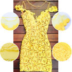 Hollow Women Summer Bandage Bodycon Lace Evening Sexy Party Cocktail Mini Dress