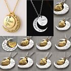I love you to the moon and back Round Heart Shape Family 1pc Multi Style Round