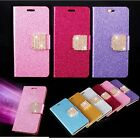 Bling Glitter Wallet Case Cover Diamond Buckle Flip Phone For iPhone 5 5s