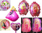 Barbie Beauty Helium Foil Balloon Decorations Kids Girl Birthday Party Supplies