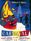 5498.Carnaval.bruxelles.clown.people partying.POSTER.Decoration.Graphic Art