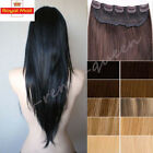 Deluxe Real AAA Clip In Remy Human Hair Extensions One Piece 3/4 Full Head T417