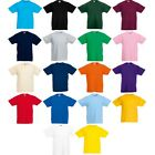 Kids Children Boy Girl Fruit of the Loom Cotton Value Weight T Shirt Top